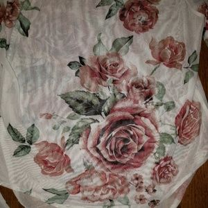 Charlotte Russe Other - NWT Sheer Rose Bodysuit